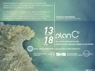 Invitación Taller Senda Plan Cerro. Viernes 13 | 18hrs.