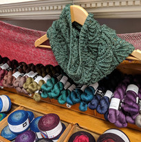 Baz Cowl and Yak Silk at Little Red Mitten