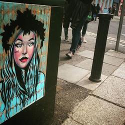 #pasteup #streetart #dublin #Ireland #patterns #stencilart #streetartistry #kathrinarupit #kinmx