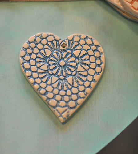 Декоративная подвеска в форме сердца Barru Pottery