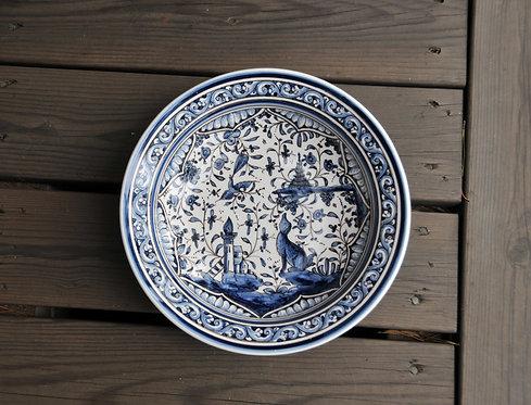 Суповая тарелка Estrela de Conímbriga XVII Blue and White