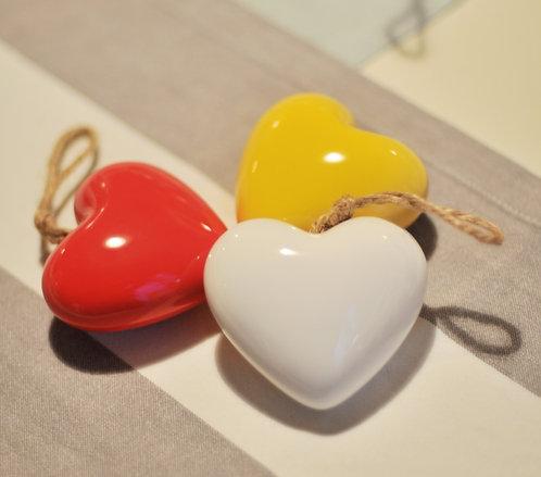 Белая подвеска-сердечко Memória Lusa