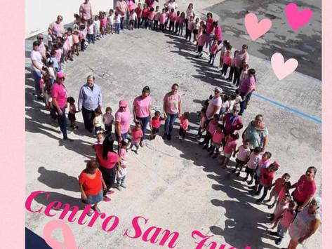 Lazo Humano Contra el Cancer en el Centro San Justo