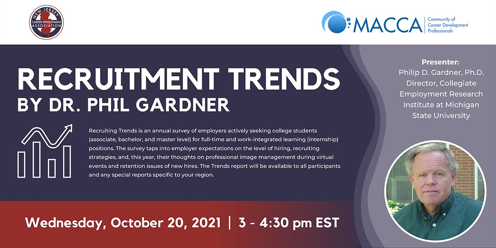 Recruitment Trends by Dr. Phil Gardner (co-sponsored with MACCA)