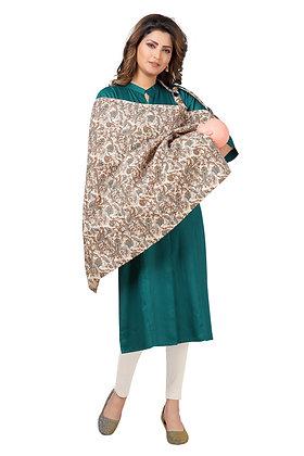 Cotton Straight Maternity Feeding Kurti with Nursing Cover Combo