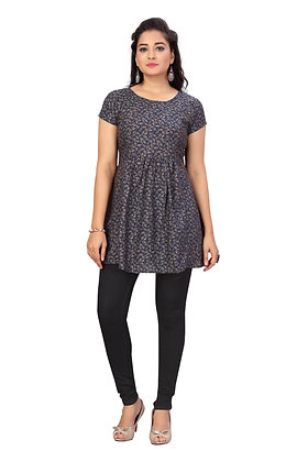 Cotton Rayon A-line Maternity / Feeding Tunic With Concealedzip For Women
