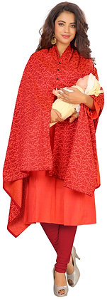 Cotton Maternity Feeding Dress with Nursing Dupatta