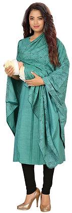 Cotton Rayon Feeding Kurti With Dupatta And Hidden Zips For Breastfeeding