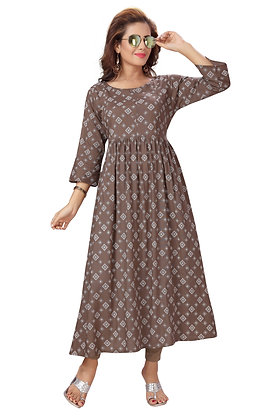 Cotton Rayon A-Line Maternity /Feeding kurti With Concealedzip For Women