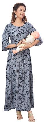 Cotton Rayon Feeding Kurti With Hidden Zips For Breastfeeding
