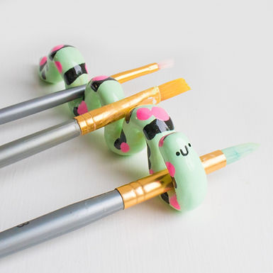 Clyde - Caterpillar Paint Brush Holder