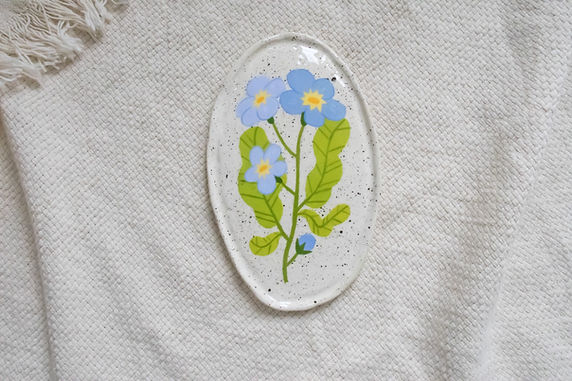 Forget me not - Oval Trinket Dish