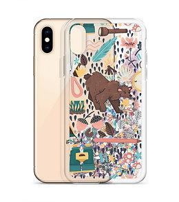 Happy camper Liquid Glitter Phone Case