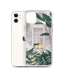 Tropical Cat Nap - iPhone Case