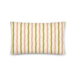Abstract vertical Stripe Pillow