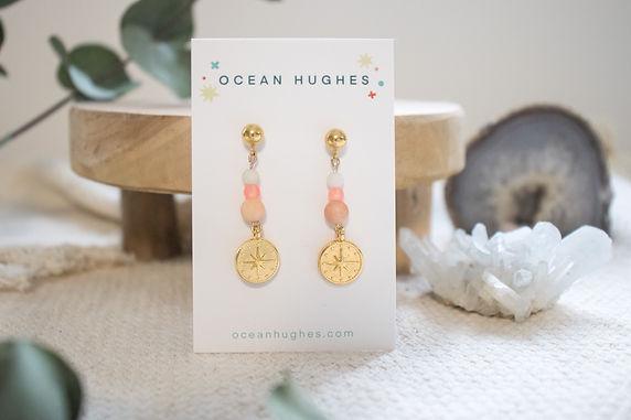 Peach Aventurine - Atlas Dangle Earring