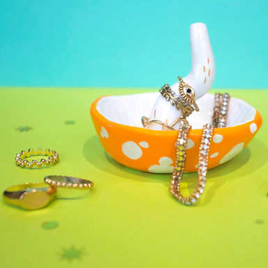 Orange Mushroom Jewellery Holder
