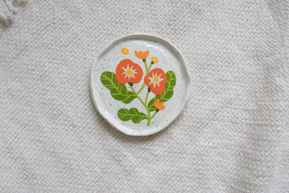Red Begonia - Mini Trinket Dish