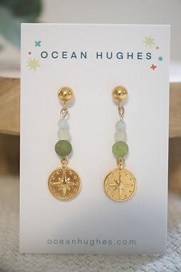 Olive Agate - Atlas Dangle Earring