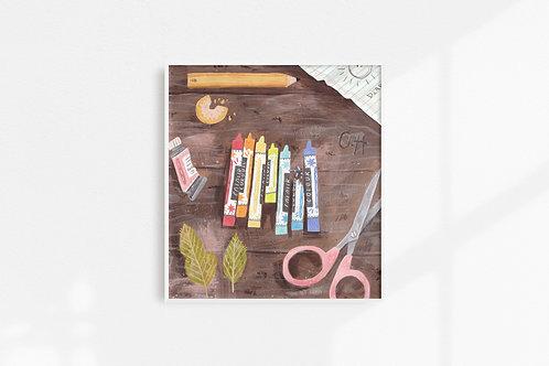Crayons - Art Print