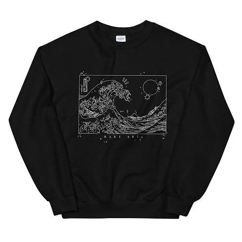 'Make Art' Unisex Sweatshirt