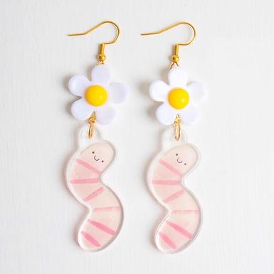 Acrylic Worm Earrings