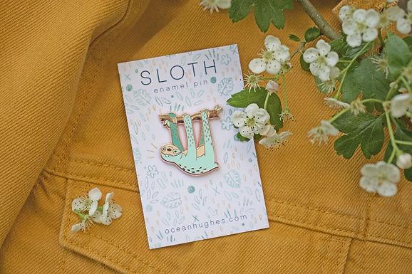 Sloth Enamel Pin