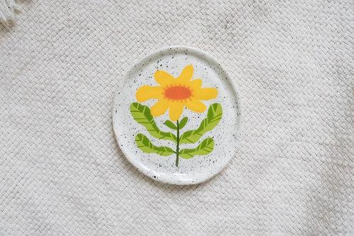 Yellow Gerbera Daisy - Mini Trinket Dish