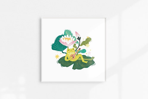 Musical Frog - Art Print