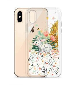 Lovely Mouse - Liquid Glitter Phone Case