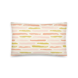 Abstract Tiger Stripe Pillow