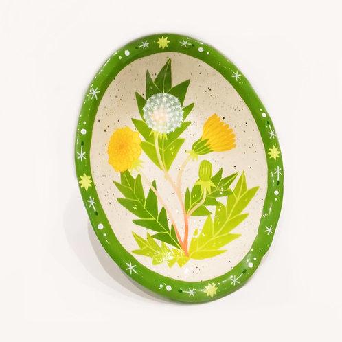 Dandelion Large Oval Decorative Bowl