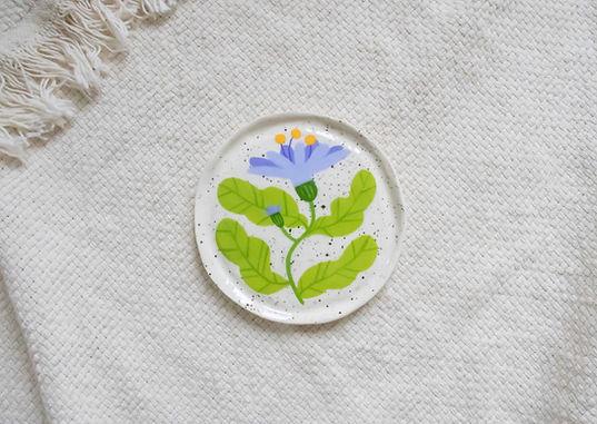 Blue Daisy - Mini Trinket Dish