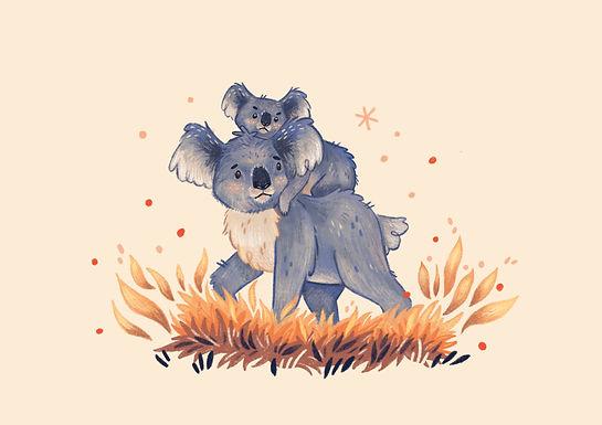 Australia Fire Relief Koala Print
