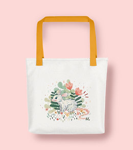 Mouse Floral Tote Bag