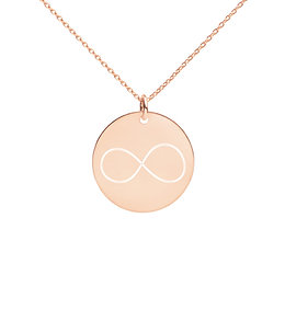 Infinity Engraved Disc Necklace