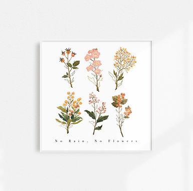 No Rain, No Flowers - Art Print