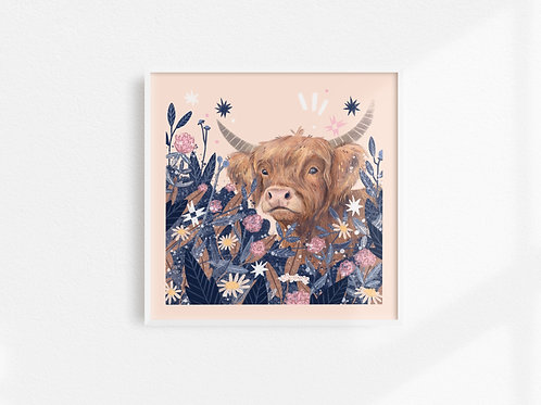 Highland Cow - Art Print
