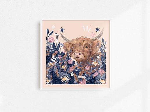 Highland Cow - Art Print