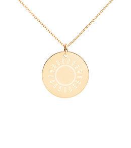 Sun Burst - Engraved Disc Necklace