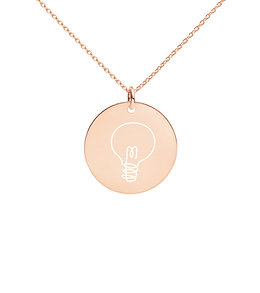 Bright Ideas - Engraved Disc Necklace