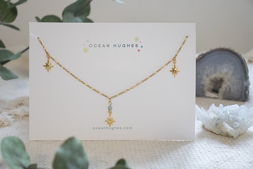 Amazonite Star Necklace