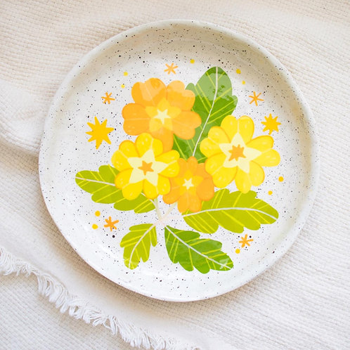 Wild Primrose Large Shallow Decorative Bowl