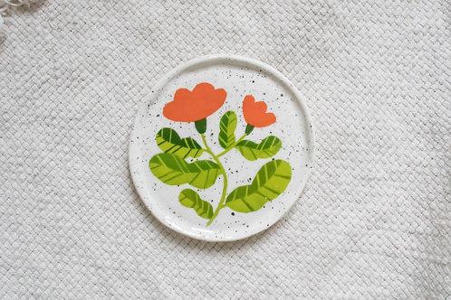 Red Flower - Mini Trinket Dish