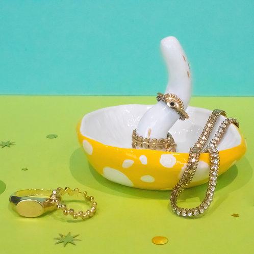 Yellow Mushroom Jewellery Holder