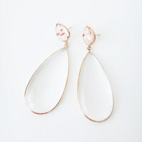 Nancy Earrings Champagne Top