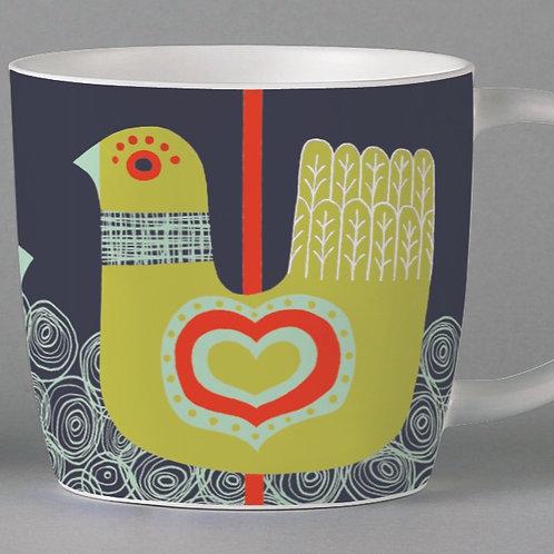 Folkland Carousel Mug - Grey