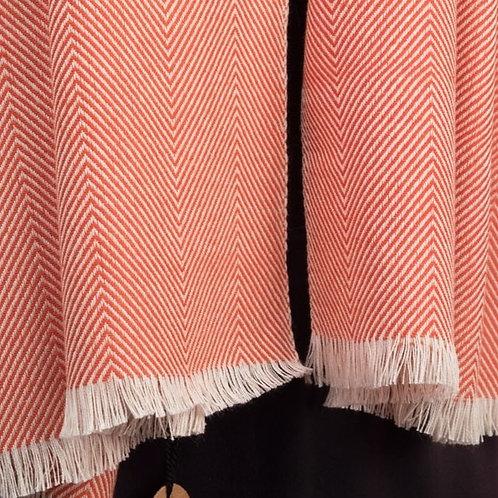 Herringbone Cotton Scarf - Red