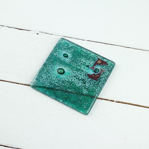 Handmade Glass Coaster - Dolphin