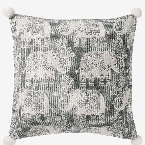 Handmade Cotton Elephant Print Cushion Cover